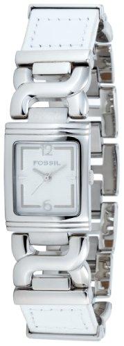 Fossil ES2135 - Reloj analógico de Cuarzo para Mujer con Correa de Piel, Color Blanco