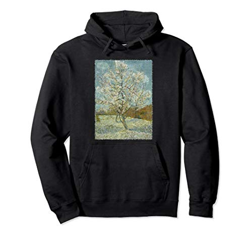 Pink Peach Tree in Blossom by Vincent van Gogh, Fine Art Pullover Hoodie