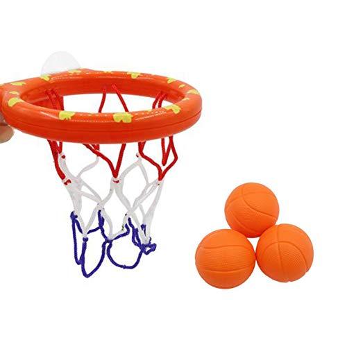 Ishine Juguetes de baño para niños pequeños Baloncesto Shot Toy Set Baby Shower Toy Set Mini lechón Basquetbol con 3 bolas