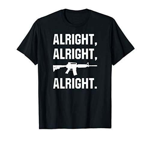 AR15 ALRIGHT AR 556 Accessories Tactical Rifle Red Dot Ammo T-Shirt