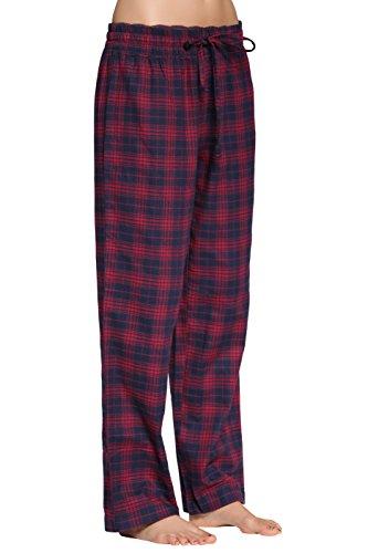 CYZ Women's 100% Cotton Super Soft Flannel Plaid Pajama/Louge Pants-F17002-XL