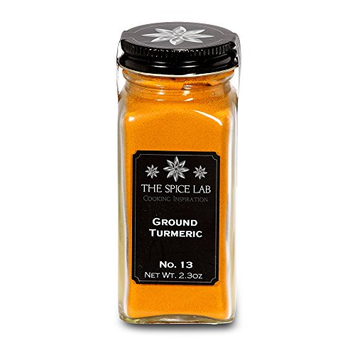 The Spice Lab No. 13 - Ground Turmeric Powder W/ Curcumin - All Natural Kosher Non GMO Gluten Free - Full Of Health Benefits - French Jar