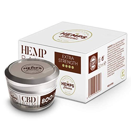Hanfcreme hoher Wirksamkeit | CBD Creme (800 mg Cannabidiol) zur Linderung von Muskel- und Gelenkschmerzen - 50 ml | Hemps Pharma - CBD Balm Extra Strength