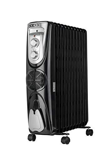 USHA 3809 FB Oil Filled Radiator (Black, 2000W)