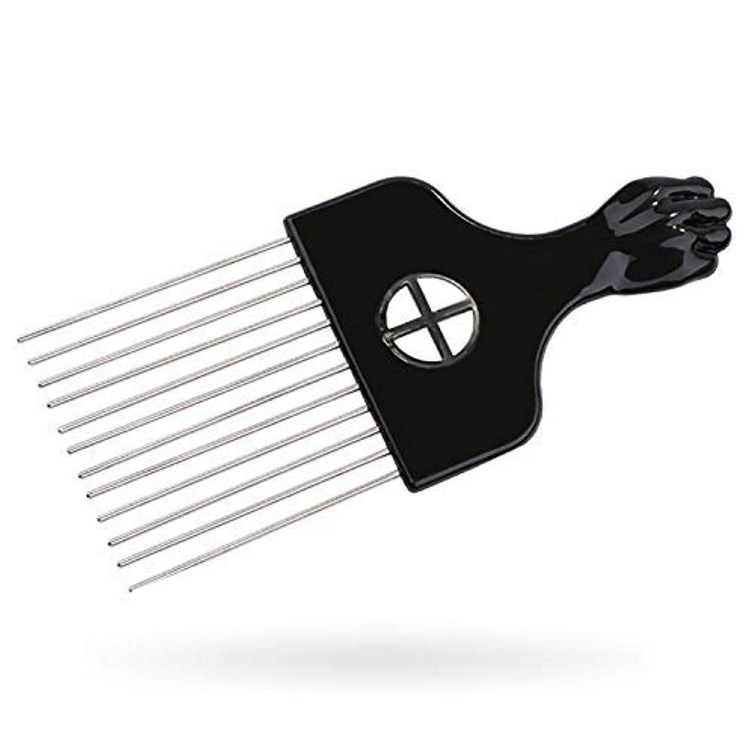 チャールズキージングさまよう芸術的Afro Pick, Hair Pick, Metal Pick Comb, Detangle Wig Braid Hair Styling Comb, Hair Brush(1 pack) [並行輸入品]