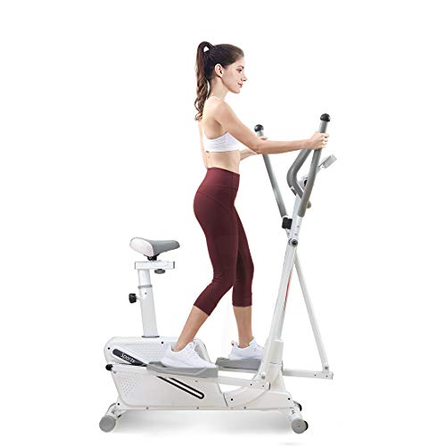 Dripex Elliptical Cross Trainer Machine with 8 Level Magnetic Resistance, LCD Monitor, Pulse Rate and Ipad Holder 2021 Version- 4in1 Cross Trainer Machine for Home Use