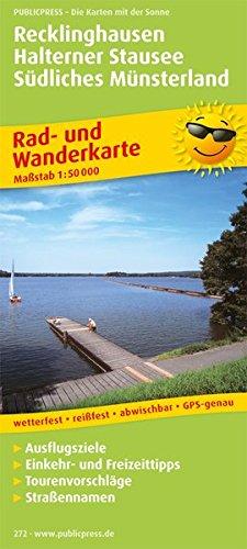 Preisvergleich Produktbild Recklinghausen - Halterner Stausee - Südliches Münsterland: Rad- und Wanderkarte mit Ausflugszielen,  Einkehr- & Freizeittipps,  wetterfest,  reissfest