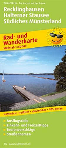 Preisvergleich Produktbild Recklinghausen - Halterner Stausee - Südliches Münsterland: Rad- und Wanderkarte mit Ausflugszielen,  Einkehr- & Freizeittipps,  wetterfest,  reissfest,  ... 1:50000 (Rad- und Wanderkarte / RuWK)