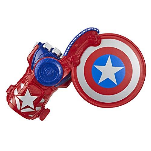 Hasbro Avengers - Scudo di Capitan America Power Moves, Role Play con Tecnologia Nerf Lancia Dardi
