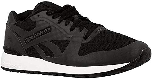 Reebok Herren GL 6000 Hidden Messaging Tech Pack Sneaker, Schwarz (Black/White), 41 EU