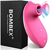 BOMBEX Clitoral Sucking Vibrator - Clit Sucker with 10 Frequencies  Waterproof Rechargeable Nipple Stimulator  Oral Sex Simulator Sex Toy for Women