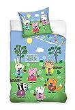 rainbowFUN.de Peppa Wutz Kinderbettwäsche-Set 135x200 80x80 Baumwolle Wende-Bettwäsche Peppa Pig