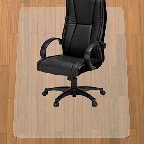 HUASUN チェアマット 超大型厚み1.5mm 机下 椅子 床を保護 デスクマット 透明 PVC 傷防止 滑り止め フロア/畳/床暖房対応 (90*120cm*1.5mm)