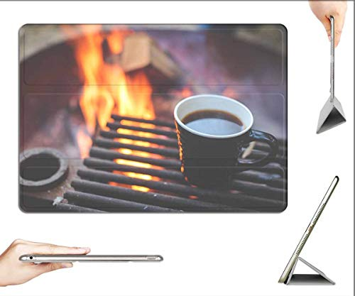 Case for iPad Pro 12.9 inch 2020 & 2018 - Coffee Grill Fire Heating Up Breakfast Camping