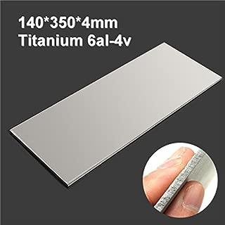 350x140x4mm Titanium 6al-4v Sheet Titanium Ti Sheet Plate Gr.5 Metal - Mechanical Parts Materials - 1 x Titanium sheet