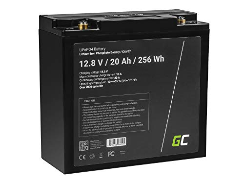 Green Cell® Batterie au lithium LiFePO4 20Ah 12.8V 256Wh