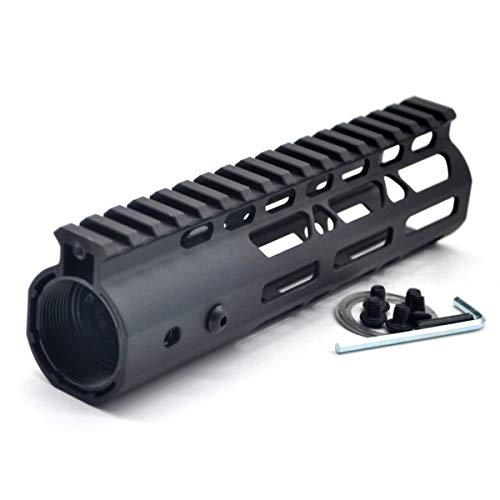 TRIROCK Black 7 Inches Free Float M-LOK AR15 AR-15 Handguard with Rail Mounted Steel Barrel Nut fit .223 5.56 Rifles