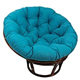 LJFYXZ Waterproof Papasan Chair Cushion Outdoor, Without Chair/Round Hanging Egg Swing Removable Cover/Indoor Courtyard Garden/Thicken Seat Pad 40x40cm(15.7x15.7in)