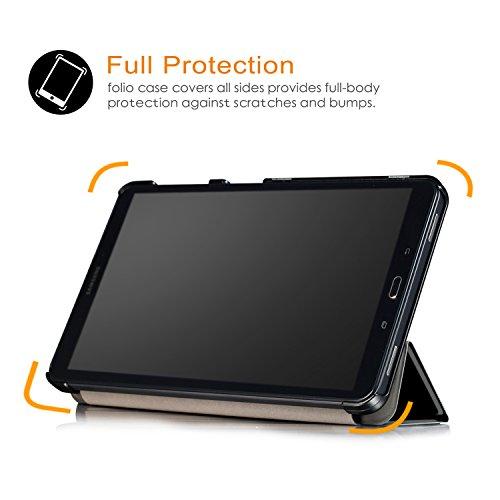 Xuanbeier Ultradünne Hülle Kompatibel mit Samsung Galaxy Tab A 10.1 2016 SM-T580/T585 (A6) Tablette Schutzhülle mit Ständer und Auto Schlaf/Wachen Funktion,Don't Touch me