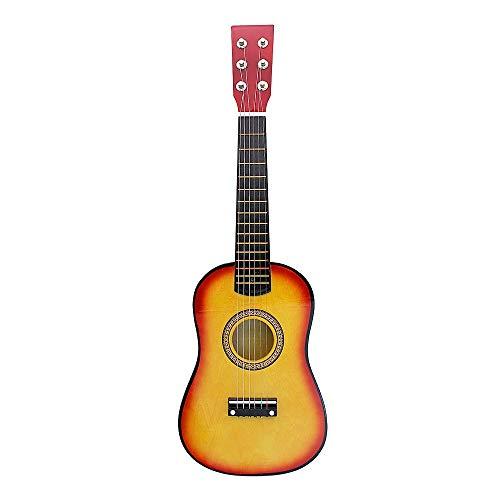 LSWL Mini Guitarra Ukelele Ukelele Concierto 23 pulgadas en color palo de rosa acústica Guitaar Hawaii completo Kits Ukulele guitarra for principiantes niños (Color : Sunset)