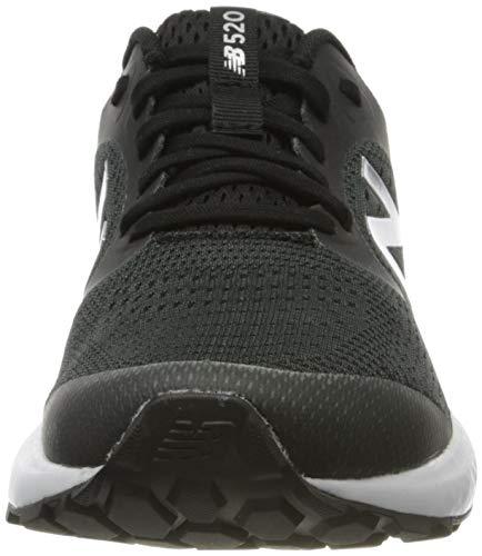 New Balance 520v6, Zapatos para Correr para Mujer, Negro Black Lk6, 39 EU