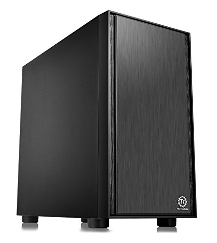 Thermaltake Versa H17 Black Micro ATX Mini Tower Gaming Computer Case 2.0 Edition with One 120mm...