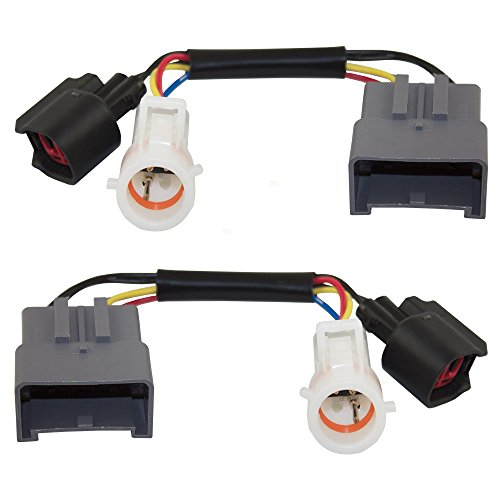 Tow Mirror Upgrade Adapters Harness Connectors w/Power Heat Set Replacements for Ford Excursion Super Duty Pickup Truck 1C3Z 14A411 AA
