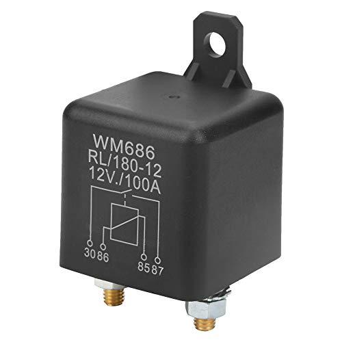 WM686 4-Pin Relé de arranque DC 12V 100A Relé de arranque de automóvil de servicio pesado normal abierto para batería de control ON/OFF RL / 180