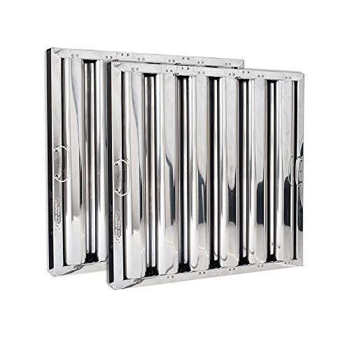 Kleen-Gard High Efficiency Stainless Steel Commercial Kitchen Range Hood Filter, 20x20x2, (Pack of 2)