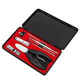 Kit de cuchillos de manicura, cortaúñas encarnadas, portátil, para salón, para el hogar, para el hogar(Manicure correction 8-piece set)