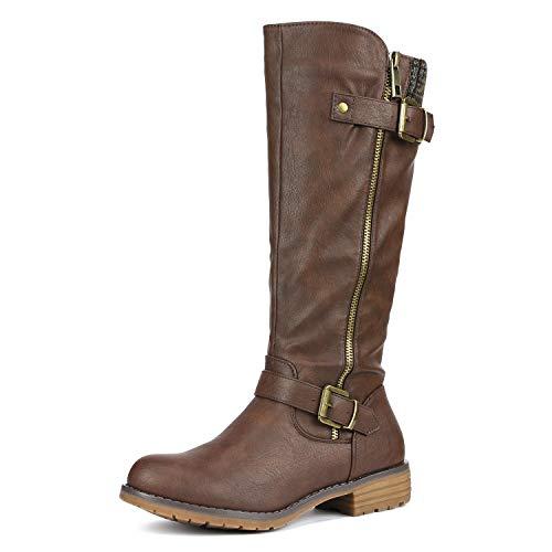 DREAM PAIRS Women's Deer Brown Knee High Boots Size 8 B(M) US