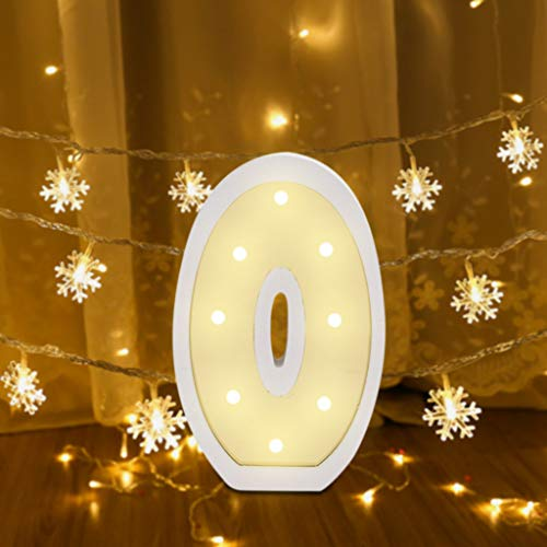 MIUYQ Letter Warm Lights Decorative LED Bulbs Alphabet Lights Marquee Decoration Light Up Sign Night Light Battery Operated for Birthday Party Wedding Receptions Holiday Bar Home Bar Decor