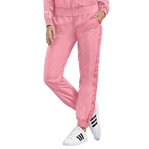 adidas Damen Favorites gewebte Hose, Damen, Jogginghose, W Fav Tp Wv, Glory Pink/Weiß, Small
