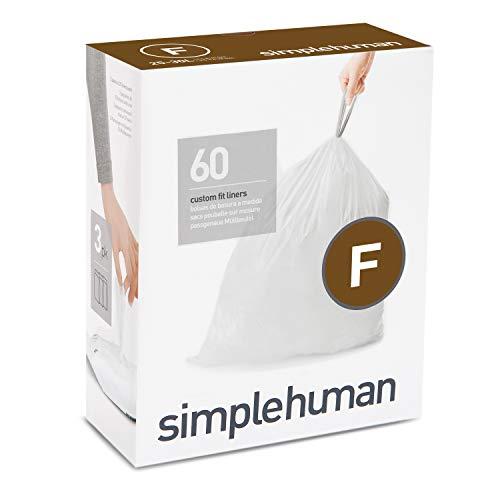 simplehuman Code F Custom Fit Drawstring Trash Bag, 25 Liter /...
