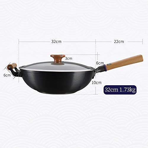41u+8Qt7ncL. SL500  - NXYJD Kochgeschirr Kochtopf Küchentopf Gusseisen Runde Knödelpfanne Gusseisentopf Wokpfanne Gusseisentopf Küche