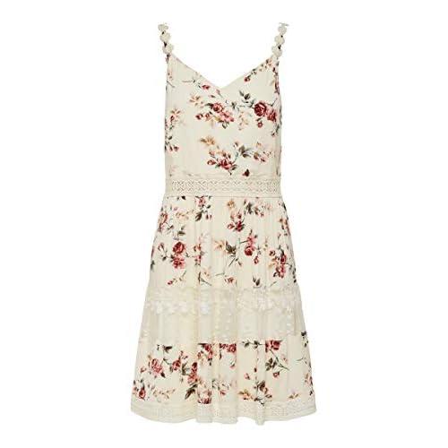 Only 15177478 Vestido, AOP: Flor Rosa Creme Brulée, 38 para Mujer a buen precio