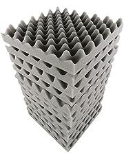 12 قطعة 30 × 30 × 5 سم وسادة فوم صوتية من الفوم عازل الصوت لستوديو المنزل المسرحي KTV