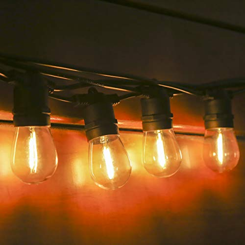 Guirnalda Luces Exterior,Tomshine 16m IP65 Impermeable Cadena de Luz,15+2 LED Bombillas Bombilla E27 Guirnalda Luminosa para Fiesta Boda Jardín Decoración Exterior
