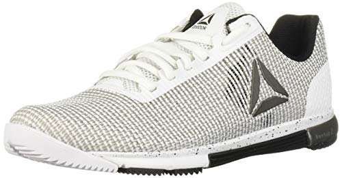 Reebok Women's Speed TR Flexweave Cross Trainer, White/Black/White, 7.5 M US