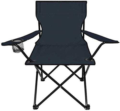 Flipco Camping Chair, Outdoor Lawn Folding Beach Chair with a Small Cup Holder Comfortable Armrests and Storage Bag