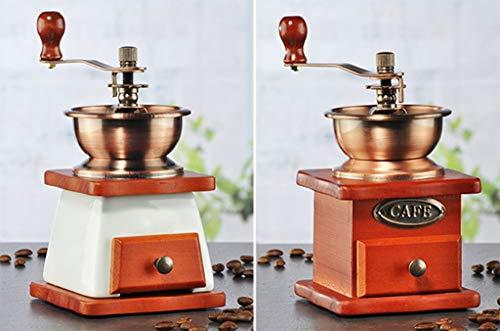 amara-global Holz Kaffeemühle Nostalgie Retro Höhe 17cm mit Kegel-Keramik-Mahlwerk 14052HI (Braun)