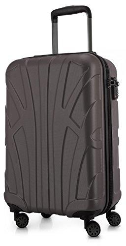 Suitline Handgepäck Hartschalen-Koffer Koffer Trolley Rollkoffer Reisekoffer, TSA, 55 cm, ca. 34 Liter, 100% ABS Matt, Titan