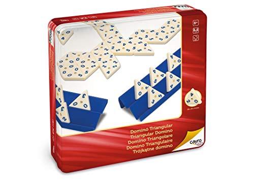 Cayro - Dominó Triangular en Caja de Metal - Juego Tradicional -...