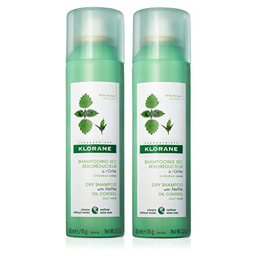 Klorane Dry Shampoo with Nettle - Oil Control, Duo
