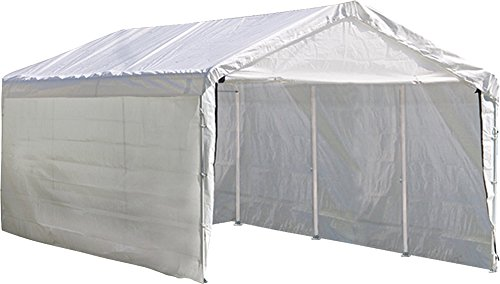 ShelterLogic SuperMax 2-in-1 Heavy Duty Steel Frame Quick and Easy Set-Up Canopy with Enclosure Kit 10' x 20'
