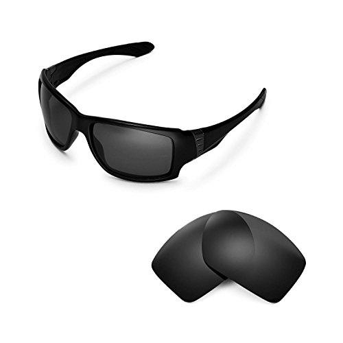 Walleva Ersatzgläser für Oakley Big Taco Sonnenbrille - 6 Optionen (Schwarz)