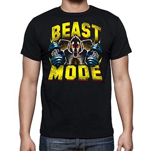 The Fan Tee Camiseta de Hombre Crossfit Deporte Gimnasio Gym Pesas Goku Dragon Ball 025 L