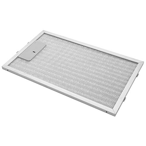 vhbw Filter Metallfettfilter, Dauerfilter 32,5 x 19,6 x 0,85 cm passend für AEG DK9190-M, DK9360-M, DK9390-M, DK9660-AD Dunstabzugshaube Metall