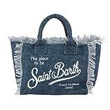 Mc2 Borsa Shopping da Spiaggia in Canvas Mod Vanity Blu