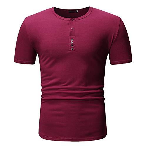 Summer Explosion hombres cuello redondo multicolor manga corta camiseta casual